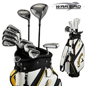 キャロウェイ日本正規品 WARBIRD SET19 ウォーバード メンズ10点 ゴルフ クラブ フルセット キャディバッグ付き 2019モデル「WARBIRD 19 14PC GR」