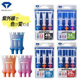 ダイヤゴルフ日本正規品 紫外線で色が変わるAERO SPARK TEE エアロスパークティー 【あす楽対応】