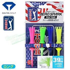 DAIYA GOLF(ダイヤゴルフ)日本正規品 AERO SPARK TEE(エアロスパークティー) US PGA TOUR ロング 「ティーアップ高39mm(4本入) TE-3001」【あす楽対応】
