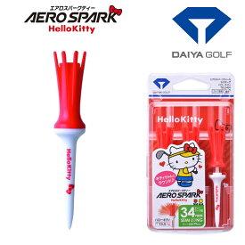DAIYA GOLF(ダイヤゴルフ)日本正規品 AERO SPARK TEE(エアロスパークティーセミロング) HelloKitty(ハローキティ) 2020モデル 「3本入(TEL5401)」 【あす楽対応】