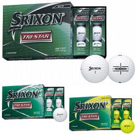 【【最大3300円OFFクーポン】】DUNLOP(ダンロップ)日本正規品 SRIXON(スリクソン) TRI-STAR(トライスター) 2020新製品 ゴルフボール 1ダース(12個入り) 【あす楽対応】
