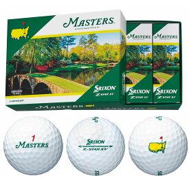 DUNLOP(ダンロップ)日本正規品 SRIXON Z-STAR XV MASTERS (スリクソンゼットスターマスターズモデル) 2021新製品 ゴルフボール1ダース(12個入) 【あす楽対応】