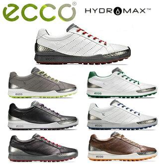 没有ECCO(回声)日本正规的物品BIOM GOLF HYBRID钉鞋的高尔夫球鞋131504