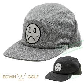 【【最大4400円OFFクーポン】】EDWIN GOLF(エドウィン ゴルフ)日本正規品 ポリエステル裏毛ワッペンジェットキャップ 2019新製品 「EDJC1948W」 【あす楽対応】