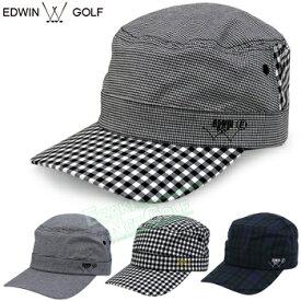 【【最大3300円OFFクーポン】】EDWIN GOLF(エドウィン ゴルフ)日本正規品 先染めゴルフワークキャップ 2019新製品 「EDWC1942」 【あす楽対応】