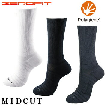 イオンスポーツポリジン銀イオン抗菌防臭ZEROFIT(ゼロフィット)ソックスMID−CUT(ミドルカット)【あす楽対応】