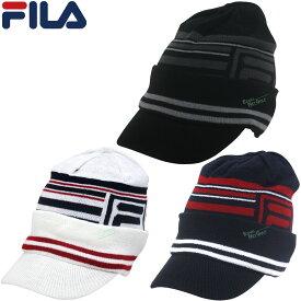 FILA GOLF(フィラゴルフ)日本正規品 つば付きゴルフニットキャップ 「788-921」 【あす楽対応】