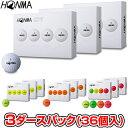 【【最大3000円OFFクーポン】】HONMA GOLF(本間ゴルフ) 日本正規品 HONMA New-D1 ホンマゴルフボール3ダースパック(36…