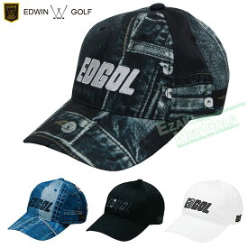 EDWIN GOLF(エドウィン ゴルフ)日本正規品 クラッシュデニム柄ゴルフキャップ 2020モデル 「EDC2038」 【あす楽対応】