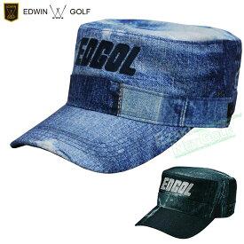 EDWIN GOLF(エドウィン ゴルフ)日本正規品 クラッシュデニム柄ゴルフワークキャップ 2020モデル 「EDWC2038」 【あす楽対応】