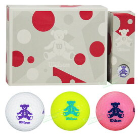 Wilson(ウィルソン)日本正規品 WILSON BEAR4 (ウィルソンベア) 2020モデル ゴルフボール1ダース(12個入) 【あす楽対応】