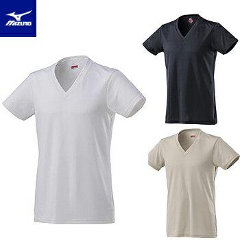 MIZUNO(ミズノ)日本正規品ブレスサーモアンダーウエア(薄手)Vネック半袖メンズシャツ2018新製品「C2JA8611」【あす楽対応】