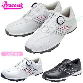 PERSON′S(パーソンズ)MOZシステム搭載レディス スパイクレスゴルフシューズ「PGS-2016」【あす楽対応】
