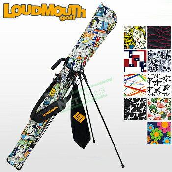 【新色登場】LOUDMOUTHGOLF(ラウドマウスゴルフ)日本正規品セルフスタンドキャリーバッグフック付きタオル付き2018新製品「LM-CC0003」【あす楽対応】