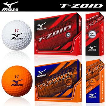MIZUNO(ミズノ)日本正規品T−ZOID「5NJBD523」ゴルフボール1ダース(12個入)【あす楽対応】