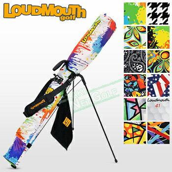 2017新製品LOUDMOUTHGOLF(ラウドマウスゴルフ日本正規品)セルフスタンドキャリーバッグフック付きタオル付き「LM-CC0003」【あす楽対応】