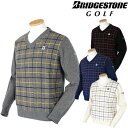 BridgestoneGolf ブリヂストンゴルフ 秋冬ウエア Vネックセーター EGM12B 【あす楽対応】