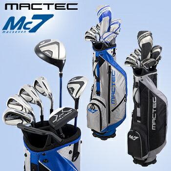 Macgregor(マグレガー)日本正規品 MACTEC Mc7(マックテック マックセブン) ゴルフクラブセット 2017モデル クラブ7本セット(DW、UT、I#7、I#9、W、S、パター)+スタンドバッグ