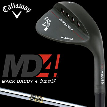 Callaway(キャロウェイ)日本正規品MACKDADDY4マックダディウェッジマットブラック仕上げ2018モデルダイナミックゴールドスチールシャフト【あす楽対応】