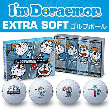 【限定品】 ブリヂストン日本正規品 I'm Doraemon EXTRA SOFT (アイムドラえもんエクストラソフト) ゴルフボール1ダース(12個入)【あす楽対応】