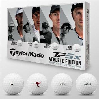 【限定品】 Taylormade(テーラーメイド)日本正規品 TP5X ATHLETE EDITION (アスリートエディション)ゴルフボール1ダース(12個入)【あす楽対応】