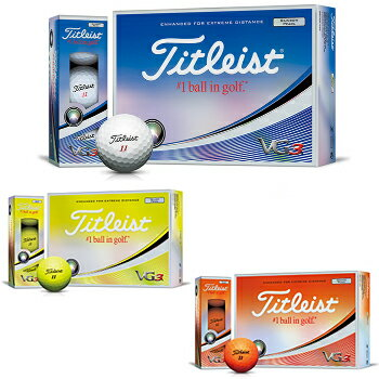 Titleist(タイトリスト)日本正規品VG3(ブイジースリー)ゴルフボール2018新製品1ダース(12個入)【あす楽対応】