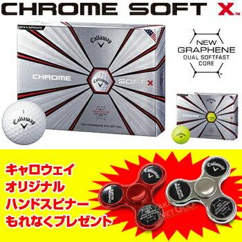 Callaway(キャロウェイ)日本正規品CHROMESOFTX(クロムソフトエックス)2018新製品ゴルフボール1ダース(12個入)【あす楽対応】