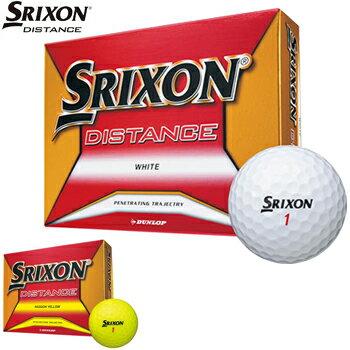 ダンロップ日本正規品 SRIXON DISTANCE (スリクソン ディスタンス) 2018新製品 ゴルフボール1ダース(12個入)【あす楽対応】