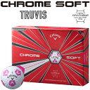 Callaway(キャロウェイ)日本正規品 CHROME SOFT TRUVIS (クロムソフト トゥルービス) 2018新製品 ゴルフボール1ダース(12個入...