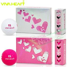 【【最大3300円OFFクーポン】】VIVA HEART(ビバハート)日本正規品 女性専用設計ゴルフボール 1ダース(12個入) 2018モデル 「VHL003」【あす楽対応】
