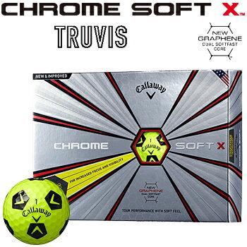 【予約】Callaway(キャロウェイ)日本正規品CHROMESOFTXTRUVIS(クロムソフトエックストゥルービス)2018新製品ゴルフボール1ダース(12個入)※7月13日発売予定御予約受付中※