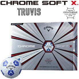 「限定品」 Callaway(キャロウェイ)日本正規品 CHROME SOFT X TRUVIS (クロムソフトエックス トゥルービス) 2018モデル ゴルフボール1ダース(12個入) 【あす楽対応】