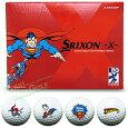 【限定品】ダンロップスリクソン日本正規品SRIXON-X-(スリクソンエックス)スーパーマンキャラクターボールゴルフボール1ダース(12個入り)【あす楽対応】
