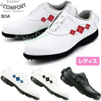 FOOTJOY(フットジョイ)日本正規品 eComfort Boa (イーコンフォート ボア) ソフトスパイクレディスゴルフシューズ 2018モデル ウィズ:XW(EEE)【あす楽対応】