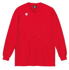 デサント(DESCENTE) V首長袖ゲームシャツ(ユニセックス) DSS-4311 レッド