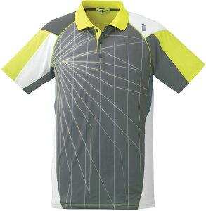 GOSEN(ゴーセン) (男女兼用 テニス・バドミントンウェア) UNI ゲームシャツ チャコールグレー