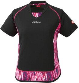 ニッタク(Nittaku) 卓球ゲームシャツ エリネシャツ レディース JTTA公認 ブラック