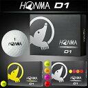 HONMA GOLF(本間ゴルフ)D1ゴルフボール1ダース(12個入)