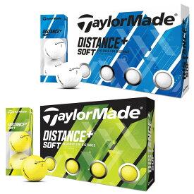 TaylorMade(テーラーメイド)日本正規品 DISTANCE+ SOFT(ディスタンスプラスソフト) 2020モデル ゴルフボール1ダース(12個入) 【あす楽対応】