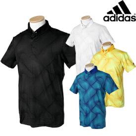 【【最大4390円OFFクーポン】】adidas Golf アディダスゴルフ 春夏ウエア ジオメトリックプリント S/S ボタンダウンポロシャツ FVE34 ビッグサイズ 【あす楽対応】