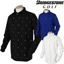 BridgestoneGolf ブリヂストンゴルフ TOUR B 秋冬ウエア 長袖台付きポロシャツ KGM01F 【あす楽対応】