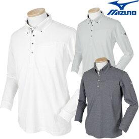 MIZUNO(ミズノ) 秋冬ウエア 長袖ポロシャツ ブレスサーモ 52MA8502 ビッグサイズ 【あす楽対応】