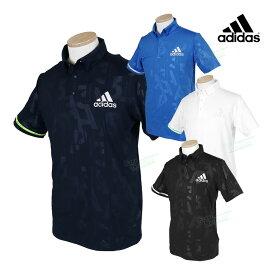 adidas Golf アディダスゴルフ 春夏ウエア エンボスプリント 半袖ボタンダウンシャツ 「GKI23」 【あす楽対応】