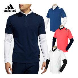adidas Golf アディダスゴルフ 2020秋冬モデルウエア スリーストライプスレイヤードスタンドカラーシャツ 「INS67」 【あす楽対応】