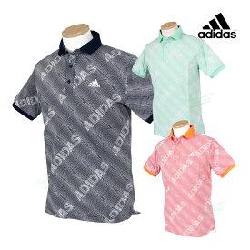 adidas Golf アディダスゴルフ 2021春夏モデルウエア ジオメトリックプリント 半袖ポロシャツ 「23087」 ビッグサイズ 【あす楽対応】