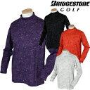 BridgestoneGolf ブリヂストンゴルフ TOUR B 秋冬ウエア 長袖モックシャツ QGM33F 【あす楽対応】