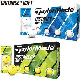 2020年モデル日本正規品テーラーメイドディスタンス プラス ソフト ゴルフボール1ダース12個入り「TaylorMade DISTANCE+SOFT」【あす楽対応】