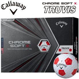 2020年モデル日本正規品キャロウェイクロムソフト エックストゥルービスゴルフボール1ダース12個入りCALLAWAY CHROME SOFT X TRUVIS【あす楽対応】