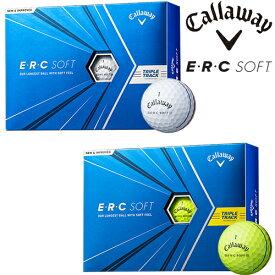 2021年モデル日本正規品キャロウェイイーアールシー ソフトトリプル トラックゴルフボール1ダース12個入りCALLAWAY ERC SOFT TRIPLE TRACK【あす楽対応】