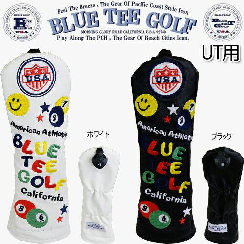 ブルーティーゴルフスマイル&ピンボールカリフォルニア ヘッドカバーユーティリティ用「BLUE TEE GOLF SMILE&PINBALL California」【ネコポス2個まで対応】【あす楽対応】